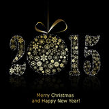 New 2015 year symbol on black backround Stock Photo
