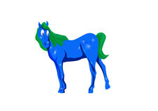 New year 2014 symbol. 2014 Chinese New Year of Green blue  Horse Stock Photo