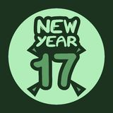 2017 new year symbol. Creative design of 2017 new year symbol Stock Images