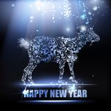 New year symbol. The goat - a new year symbol of 2015. Vector illustration Stock Photography