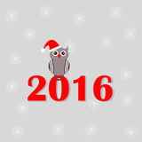 New year symbol. Happy New Year symbol owl royalty free illustration