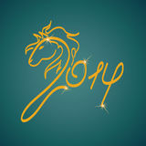 New Year symbol of horse Royalty Free Stock Images