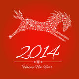 New Year symbol of horse. Illustration Royalty Free Stock Photos