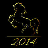 New Year symbol of horse. Illustration Royalty Free Stock Image