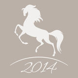 New Year symbol of horse. Illustration Stock Images