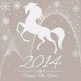 New Year symbol of horse. Illustration Royalty Free Stock Photography