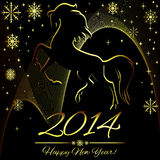New Year symbol of horse. Illustration Stock Photo