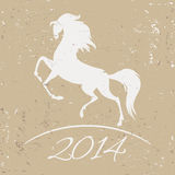 New Year symbol of horse -  illustration Stock Images