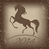 New Year symbol of horse -  illustration.  Royalty Free Stock Image