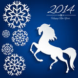 New Year symbol of horse - Illustration,  Stock Images