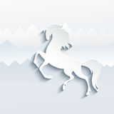 New Year symbol of horse - Illustration,.  Royalty Free Stock Photo