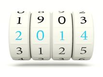 2014 New Year. Symbol isolated on white Royalty Free Stock Photography