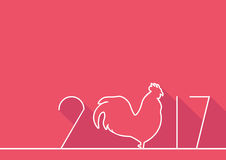 New year symbol with numbers. Symbol of new year, rooster and numbers in background. Card for holiday Royalty Free Stock Image