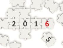 2016 New year symbol on puzzle Stock Image