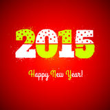 New year symbol. On red background Royalty Free Stock Images