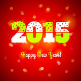 New year symbol. On red background Stock Photo