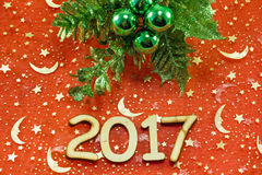 New year 2017 symbol Royalty Free Stock Images