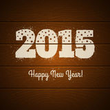 New year symbol. On wooden background Stock Photography
