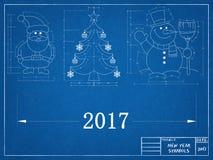 New Year Symbols - Blueprint Stock Images