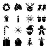 New Year Symbols Christmas Accessories Icons Stock Photography