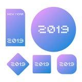 2019 new year symbols. Creative design of 2019 new year symbols Stock Image