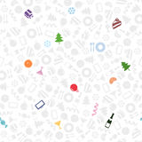 New Year symbols seamless pattern Royalty Free Stock Image