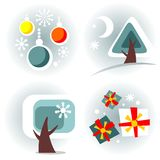 New Year symbols set Royalty Free Stock Images