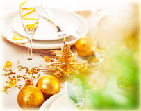 New Year table decorations Stock Photography
