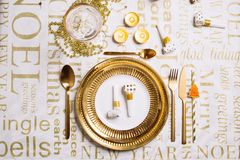 Free New Year Table Setting Stock Photo - 132688020