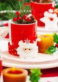 New Year table setting Stock Photography
