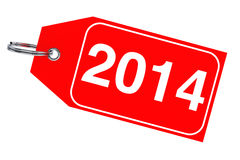 New Year 2014 tag. Winter sale concept. New Year 2014 tag on a white background stock illustration