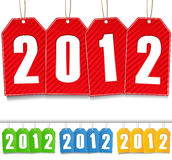 New Year Tags. Illustration of New Year Tags royalty free illustration