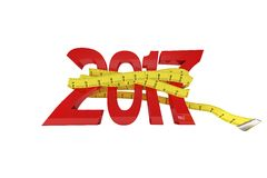New year with tape measure Royalty Free Stock Photography