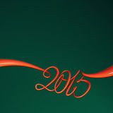 New Year 2015 template. New Year 2015 text - classic colours 3d render template Stock Photography