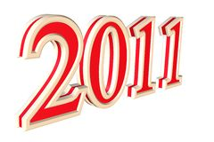 New year text 2011 Royalty Free Stock Images