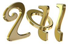 New year text 2011. Creative gold new year text 2011 Royalty Free Stock Images