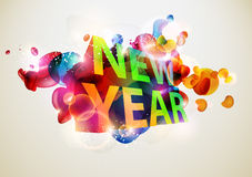 New Year text Royalty Free Stock Image