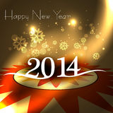 New year for 2014 text colorful background illustr Royalty Free Stock Image