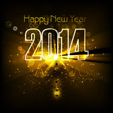 New year for 2014 text colorful wave background il. Lustration design vector illustration