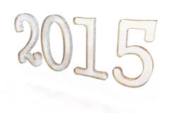 New Year text 3d 2015. Beautiful New Year sign 3d text on white background back Stock Photography
