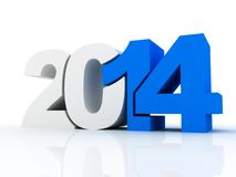 New year 2014 text 3D. On white background Royalty Free Stock Photos