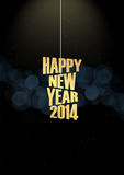 New Year 2014 Text lights effect. Happy new year 2014 text in glow colorful background Stock Images