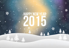 New Year 2015 Text lights effect. Happy new year 2015 text in glow colorful background Royalty Free Stock Image