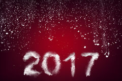 New Year 2017 text made with snow Royalty Free Stock Photography