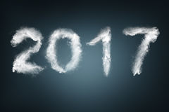 New Year 2017 text made with snow Royalty Free Stock Images