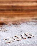2015 New Year text Stock Photos