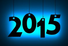 New year. Text on the string Royalty Free Stock Images