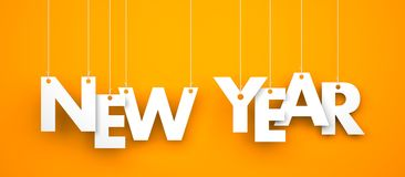 New year text on the strings Royalty Free Stock Photography