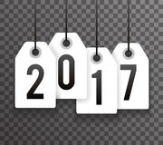 New Year 2017 Text Symbol Labels Icon Background Template. New Year 2017 Text Labels Icon Background Template Vector Illustration Stock Illustration