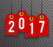 New Year 2017 Text Symbol Labels Icon Background Template. New Year 2017 Text Labels Icon Background Template Vector Illustration Vector Illustration